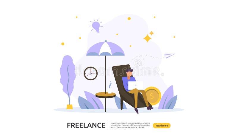 Freelance poj?cie E r r ilustracji