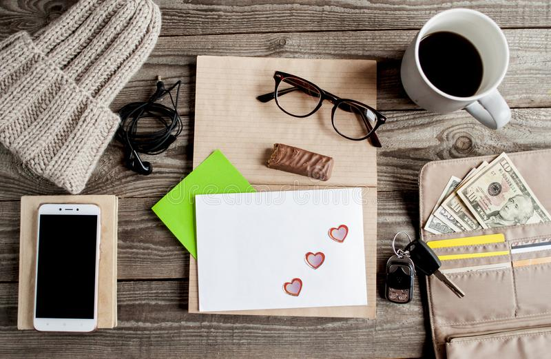 Freelance work space stock images