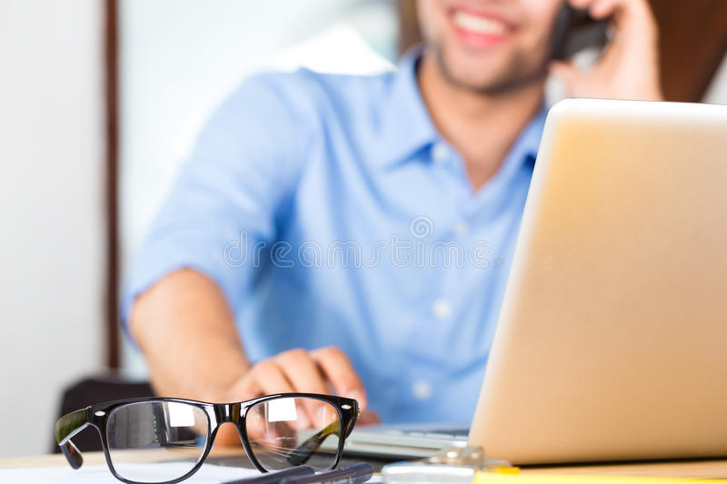 Download Architect working at home stock photo. Image of cell - 29801468