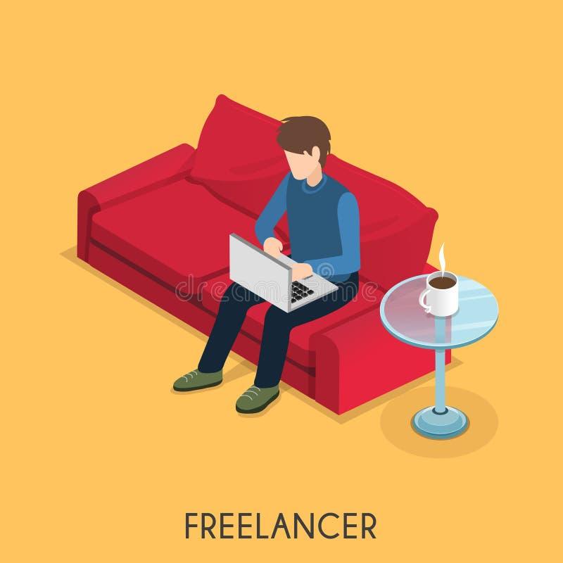 Freelancerconcept stock illustratie