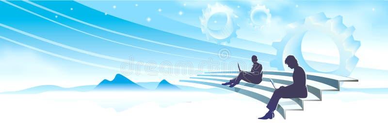 freelancersarbete royaltyfri illustrationer