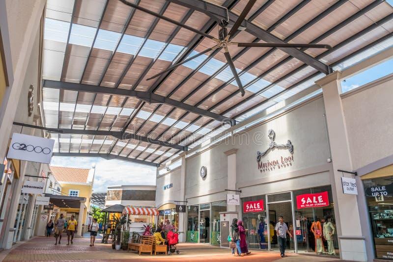 Freeport een Afzet van ` Famosa is het grootste winkelcomplex in Alor Gajah, Malacca stock fotografie