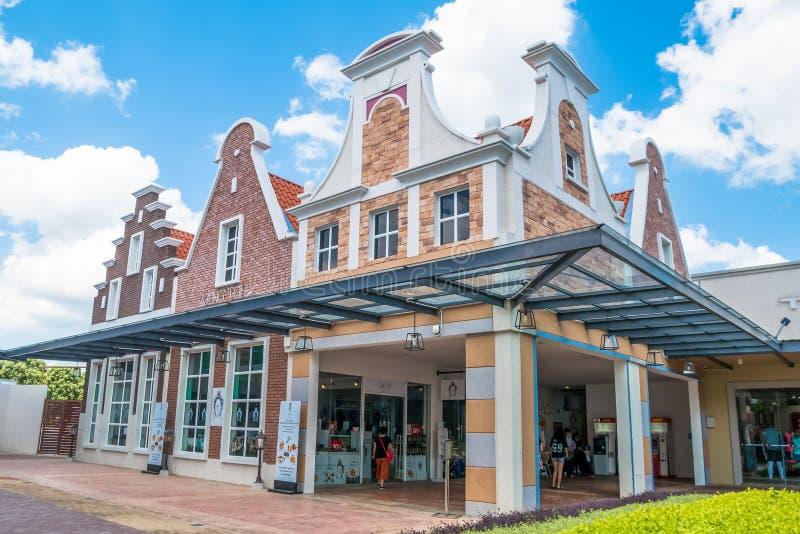 Freeport een Afzet van ` Famosa is het grootste winkelcomplex in Alor Gajah, Malacca royalty-vrije stock afbeeldingen