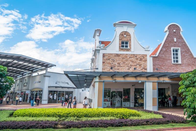 Freeport een Afzet van ` Famosa is het grootste winkelcomplex in Alor Gajah, Malacca stock afbeelding