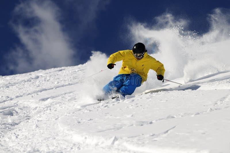 freeride滑雪者 图库摄影