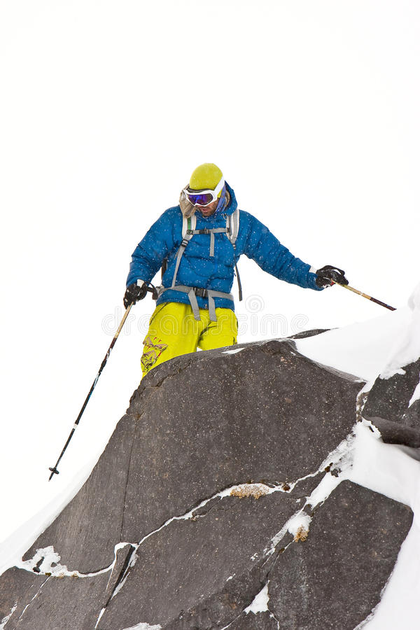 Download Freeride In Caucasus Mountains Stock Photo - Image: 17774768