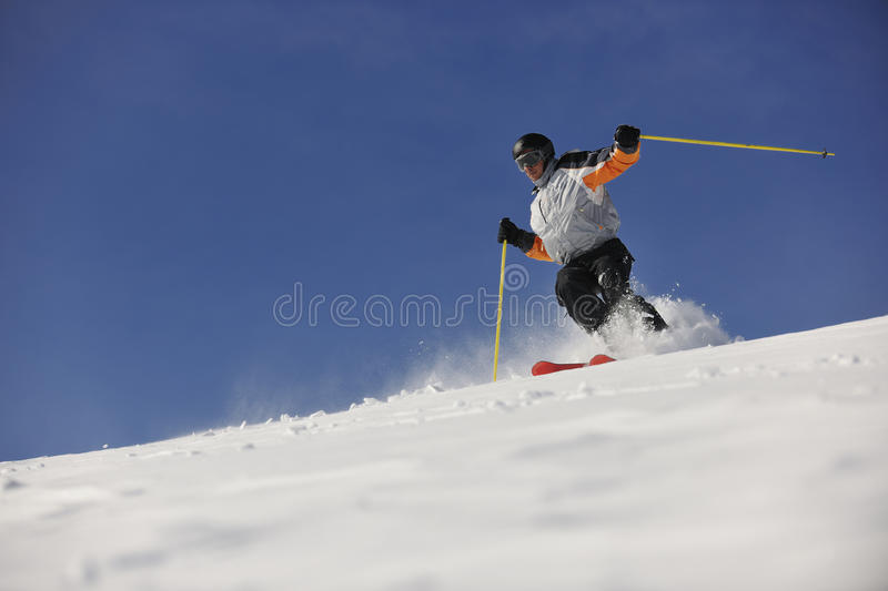 Freeride de ski images stock