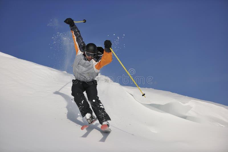 Freeride de ski image libre de droits