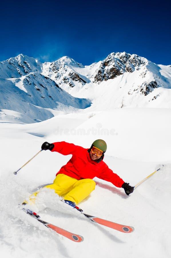Download Freeride In Fresh Powder Snow Stock Image - Image: 27045331