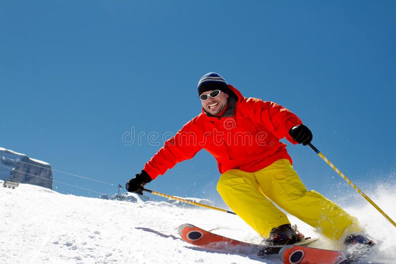 Freeride In Fresh Powder Snow Royalty Free Stock Image