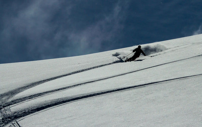Freeride On  Kamchatka Stock Photography