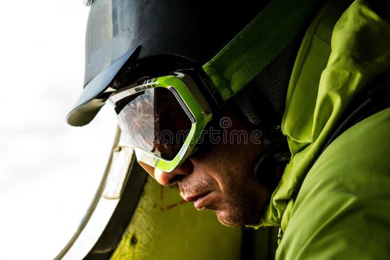 Download Freeride on  Kamchatka stock image. Image of male, alpine - 33549959