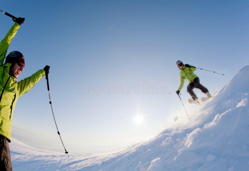 freeride narciarka obrazy stock