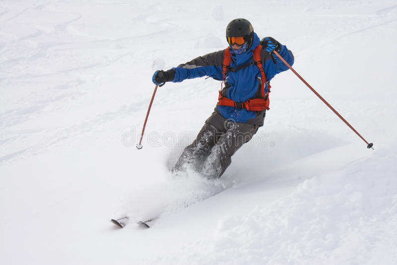 Freeride narciarka obrazy royalty free