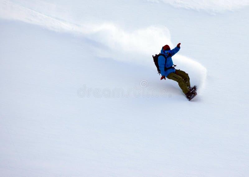 Freeride-Ski in den Transsilvanische Alpen stockfotografie
