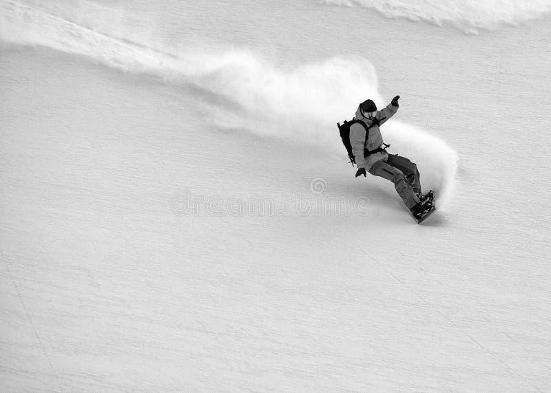Freeride-Ski in den Transsilvanische Alpen lizenzfreies stockbild