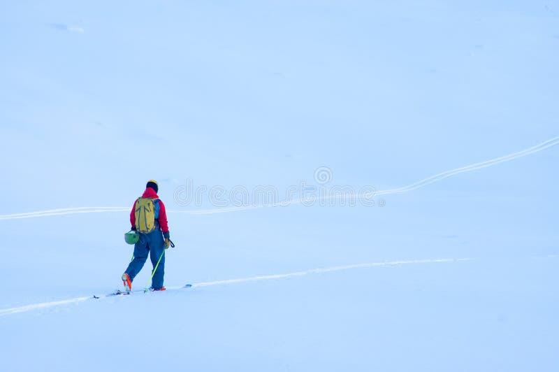 Freeride-Ski in den Transsilvanische Alpen lizenzfreie stockbilder