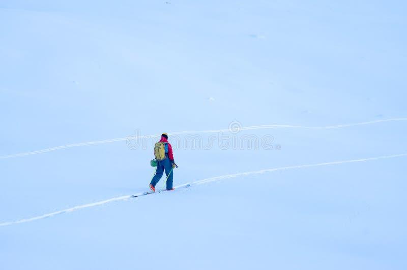 Freeride-Ski in den Transsilvanische Alpen stockbild