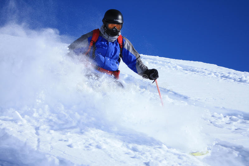 Freeride skier 1 stock photography