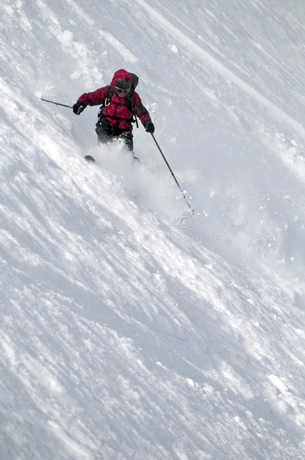 Download Freeride Skier stock photo. Image of motion, mountain - 23738620
