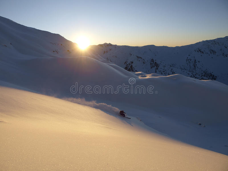 Download Freeride turn stock photo. Image of freezing, cold, snow - 19089942