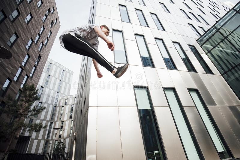 Freerunner in the City stock photos