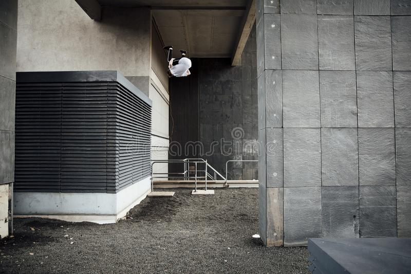 Freerunner on the Rooftops stock image