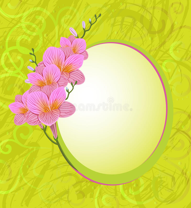 Freesia flower stock illustration