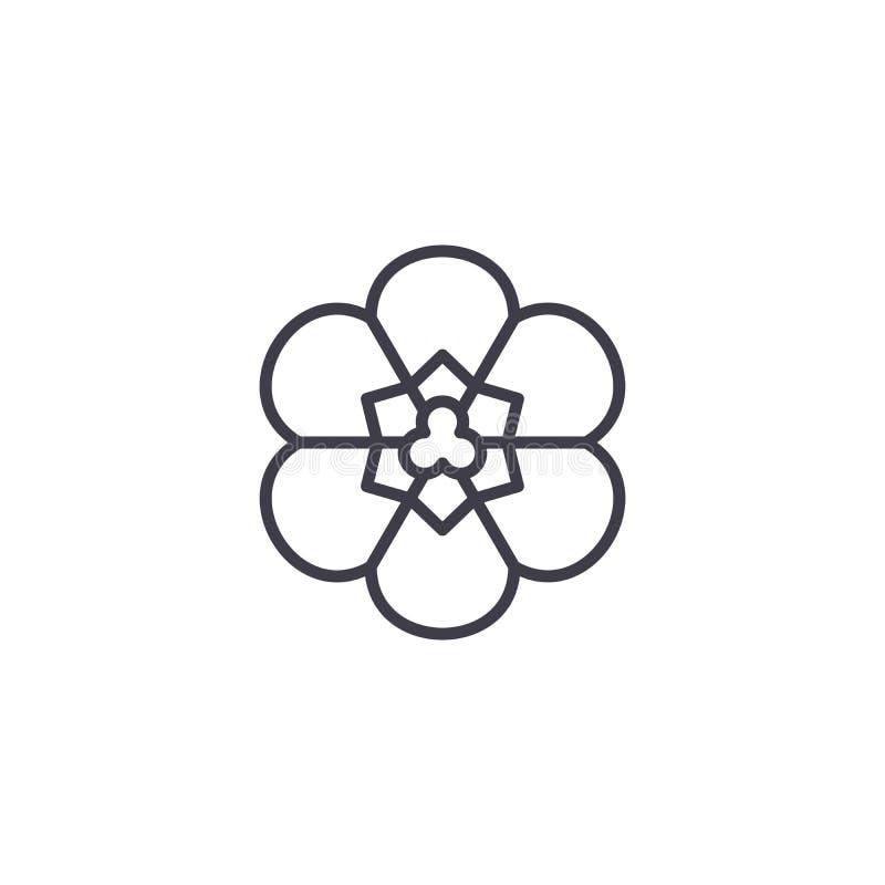 Freesiablommalinje symbolsbegrepp Tecken för vektor för freesiablommalägenhet, symbol, illustration vektor illustrationer