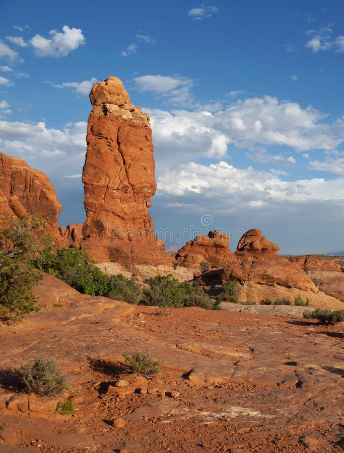 Free Freestanding Red Navajo Sandstone Pinnacle In A Dry Desert Environment Stock Photography - 103674772