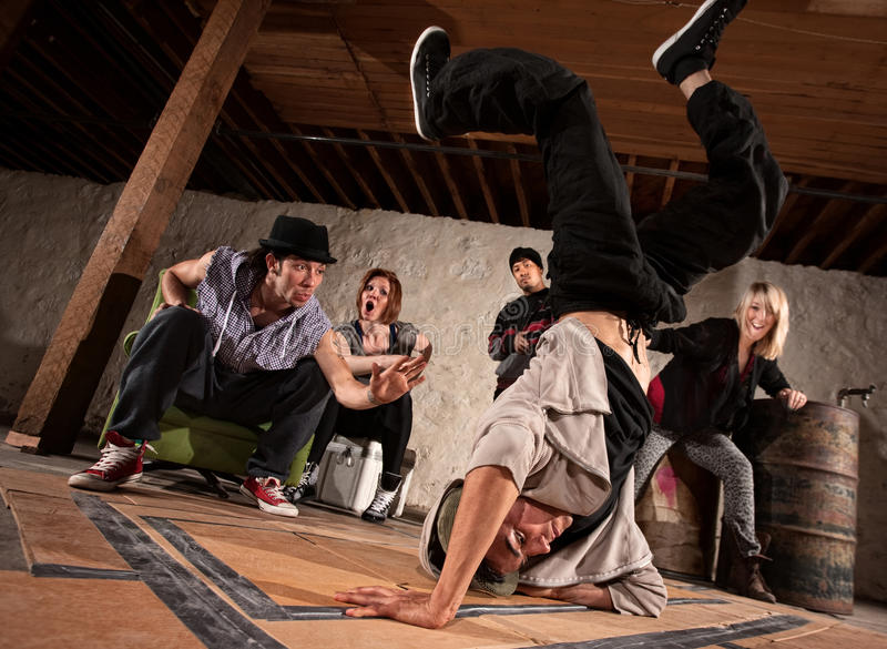 Freestyle Break Dancing stock photo