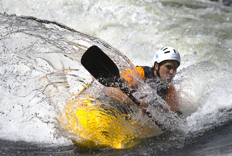 Freestyle Kayak royalty free stock image