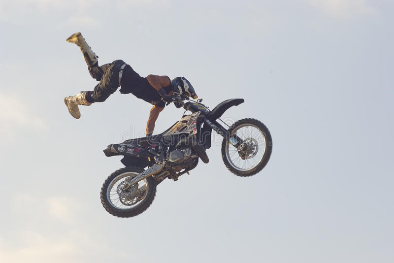 Download Freestyle motorcycle stunt editorial image. Image of flight - 23007720