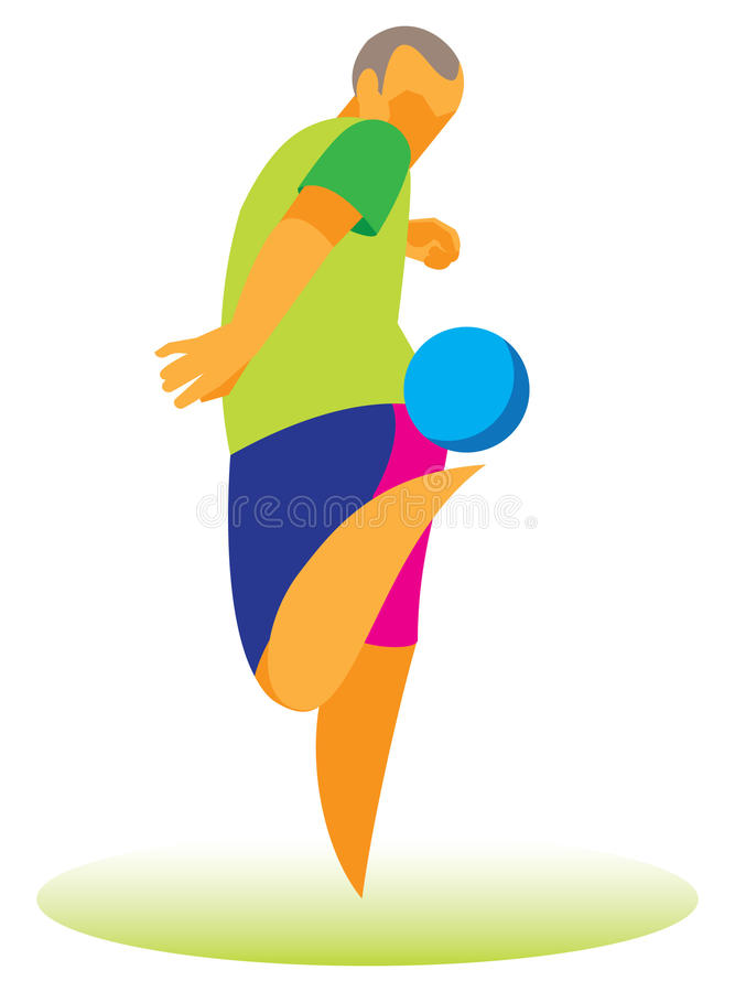 Freestyle.Teenager deftly juggles a ball. Freestyle. Teenager deftly juggles a soccer ball royalty free illustration