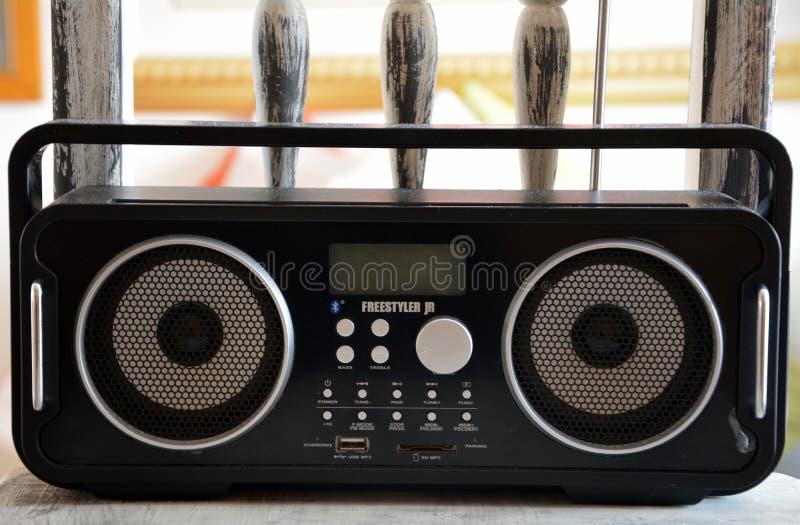 Freestyler Black Radio Stereo royalty free stock image
