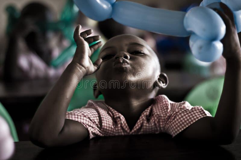 Freetime in Malindi, bambini africani fotografia stock