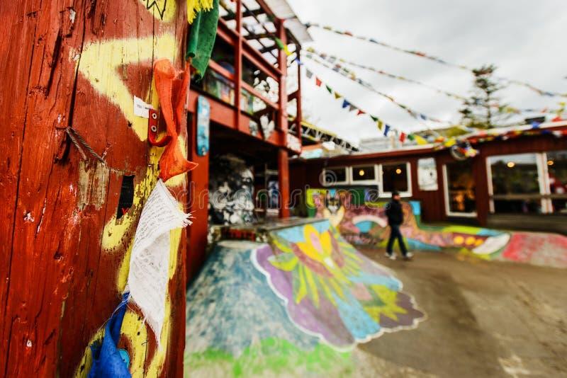 Freetown Christiania, anarchista komuna i stronniczo autonomiczna intencjonalna społeczność, obrazy stock