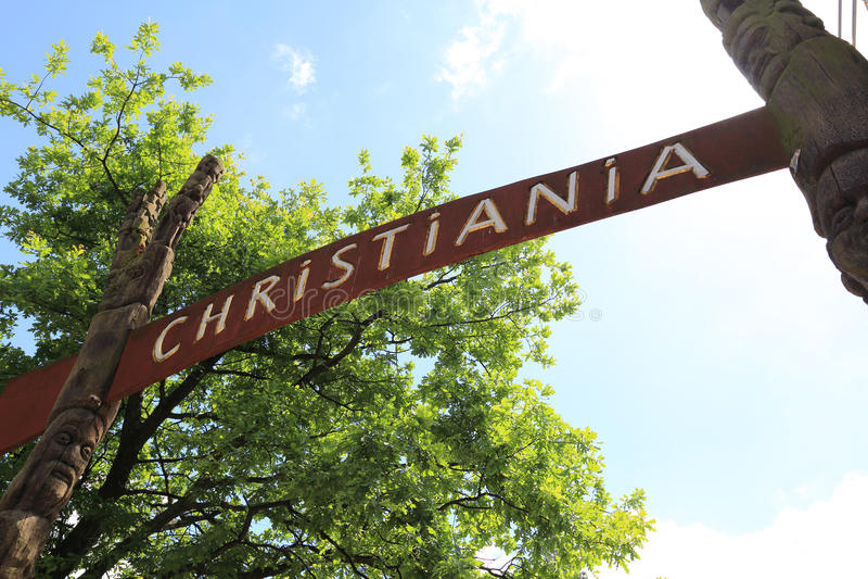 Freetown Christiania, Copenhague foto de archivo