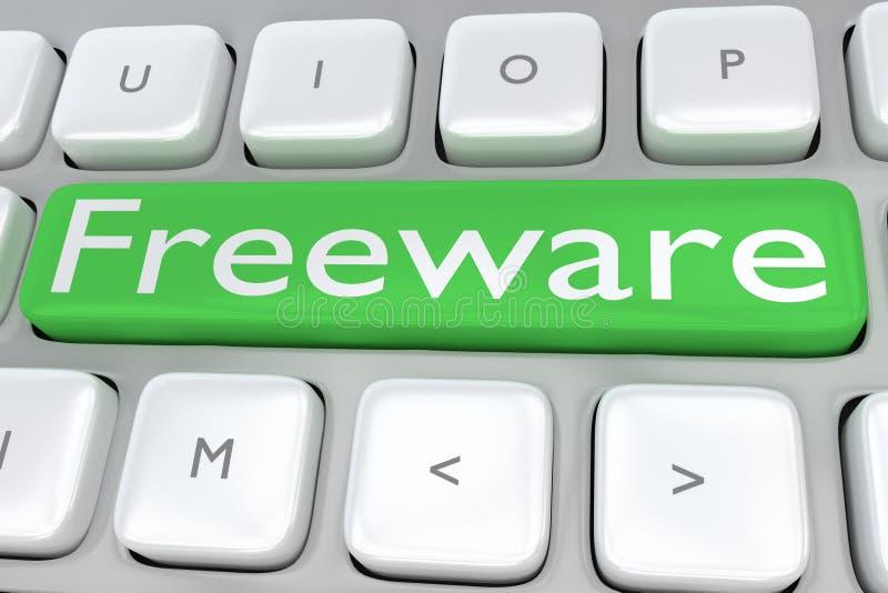 Freeware - softwareconcept vector illustratie