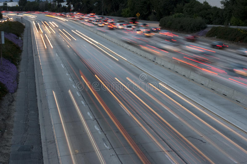 Download Freeway Long Exposure stock photo. Image of evening, headlights - 18391206