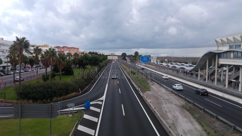 Freeway San Fernando road - Puerto Real stock images