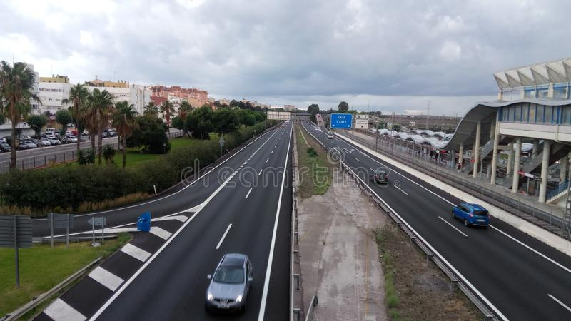 Freeway of San Fernando, South Bahia royalty free stock photography