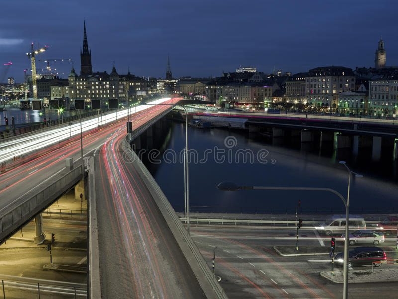 Download Freeway Shot With Long Exposure Stock Image - Image: 12007463