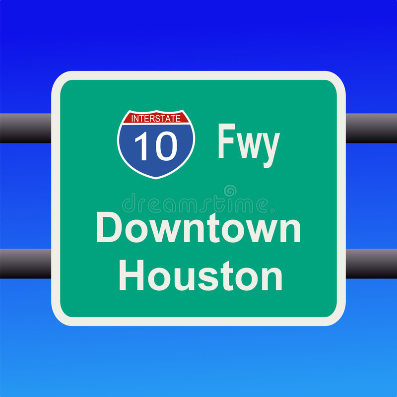 Download Freeway to Houston sign stock vector. Illustration of america - 4011117
