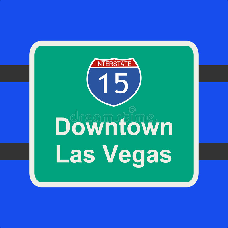 Freeway to Las Vegas sign vector illustration