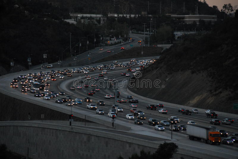 405 Freeway Traffic Los Angeles 2016 royalty free stock photography