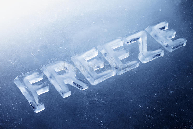 Download Freeze stock photo. Image of text, winter, still, nobody - 23296472