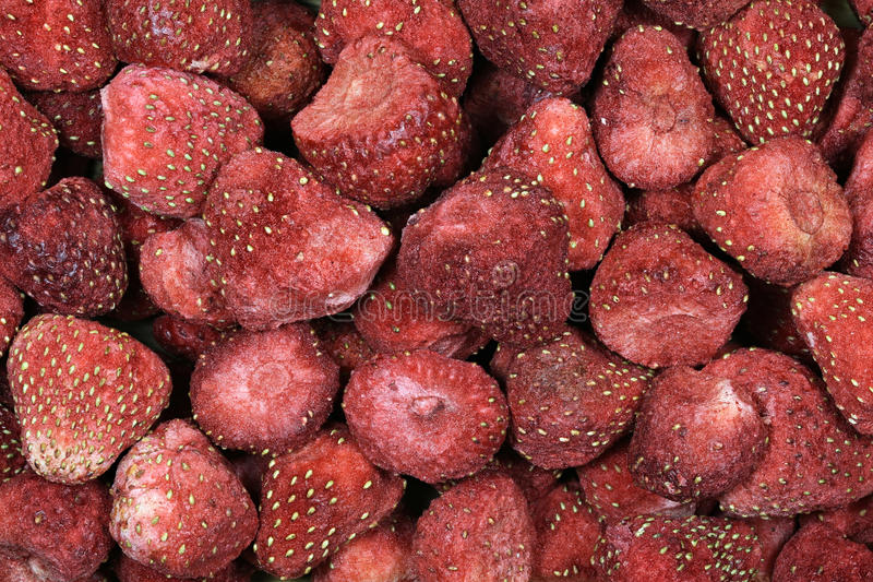Freeze-dried strawberries royalty free stock image