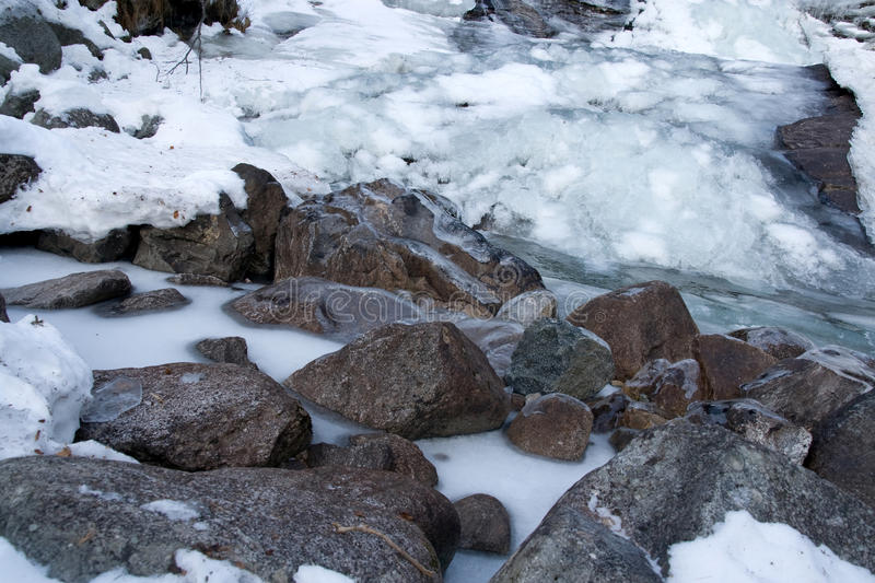 Download Freeze river stock photo. Image of snow, granite, freeze - 12564606