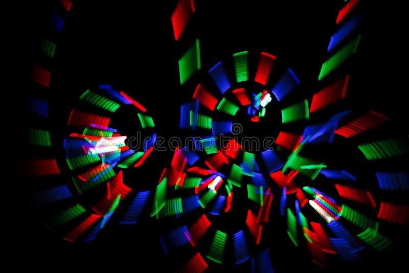 Freezelight multicolore nel modulo delle spirali immagini stock libere da diritti
